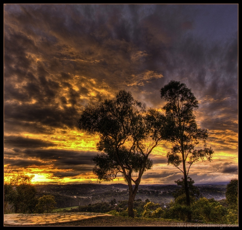 """Fiery Sunset at """"The Hill"""""""