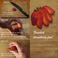Dessert garnish #2: Strawberry fan