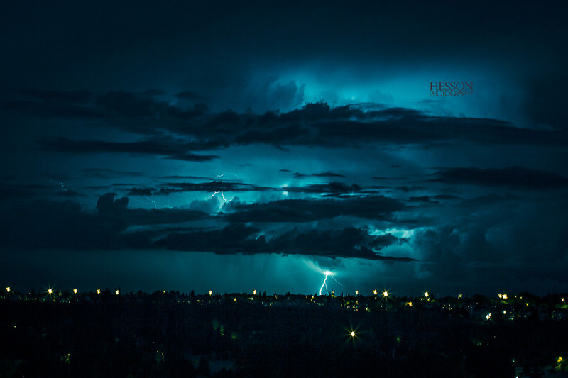 Electric Blue Lightning Storm by nickhesson - DPChallenge