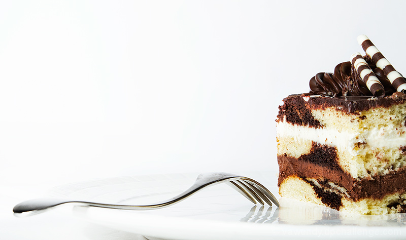Chocolate Tuxedo Cake