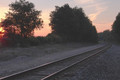 Tracks at Sunrise