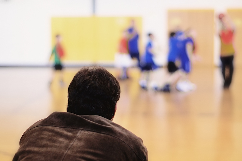 Parent at Basketball Practice