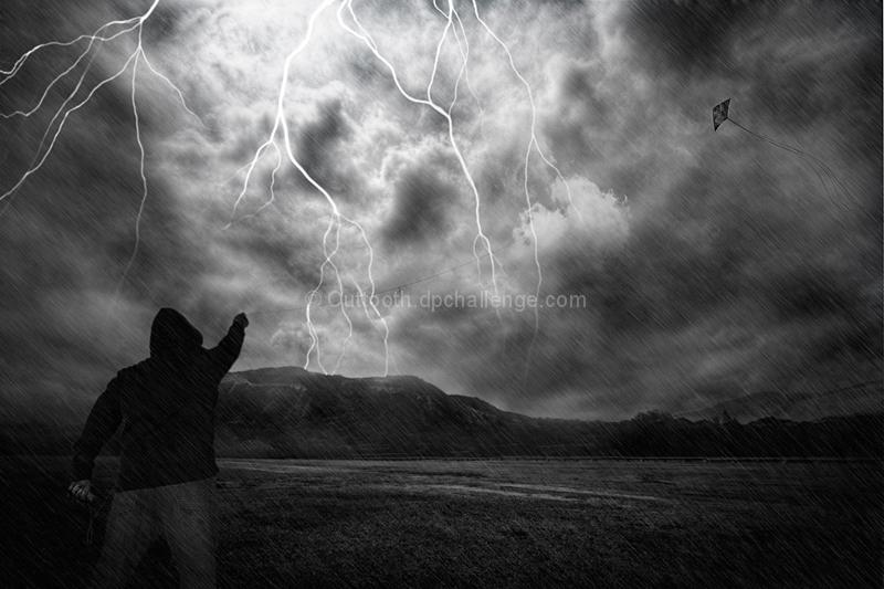 Stunt Kite Storm Dodging