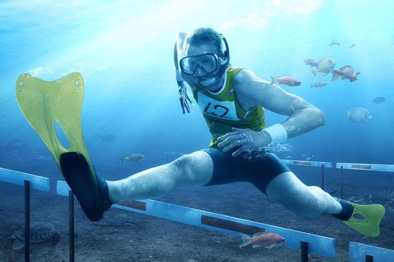 Underwater Hurdling