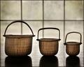 baskets, shadows, window panes