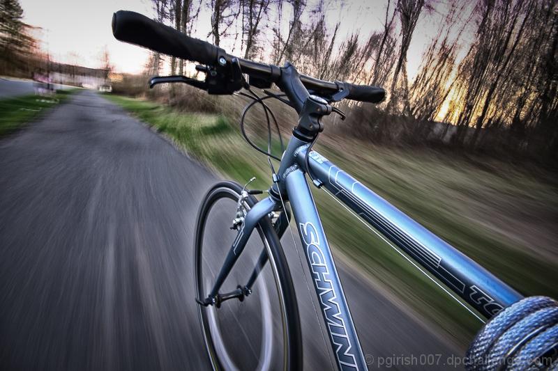 Invisible Schwinn Bike Rider!