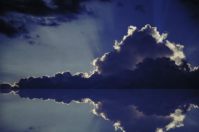ciel bleu Monsieur Rorschack