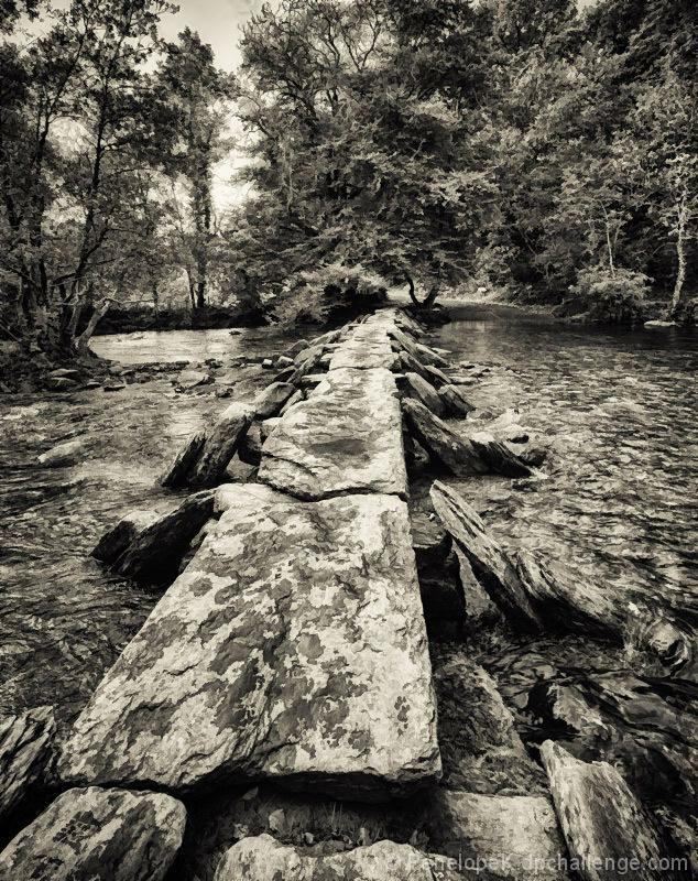 Ancient Clapper Bridge, Exmoor, Believed to be 3,000 Years Old