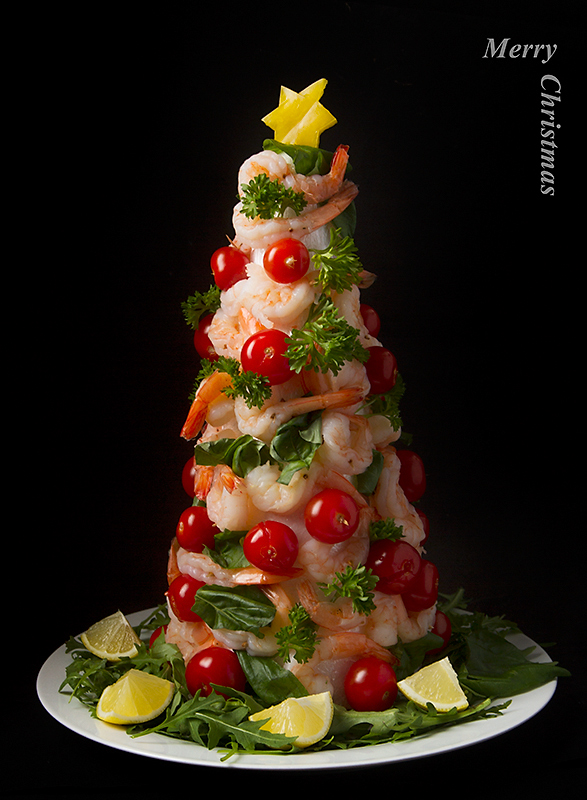 Shrimp Christmas Tree Picture