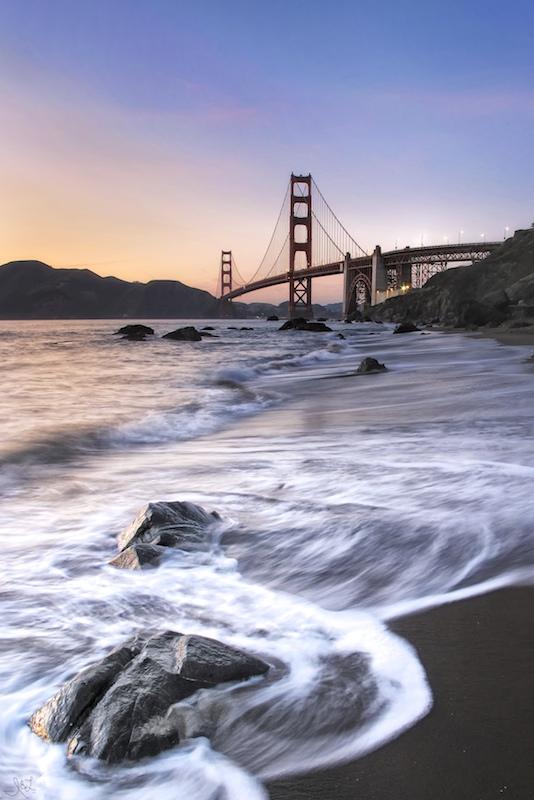 Golden Gate Bridge from Marshall's Beach