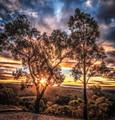Sunburst at Sunset