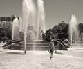 Girl in fountain, Logan Square
