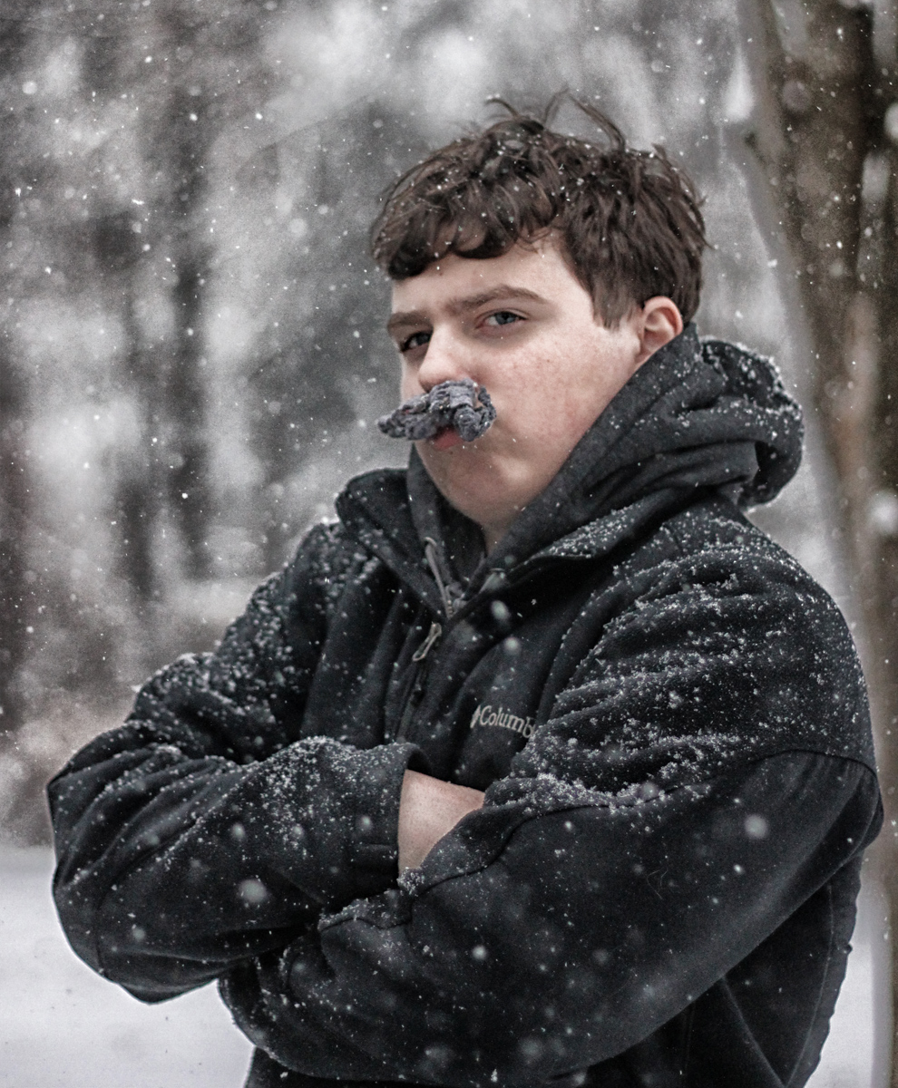hipster lint in snow