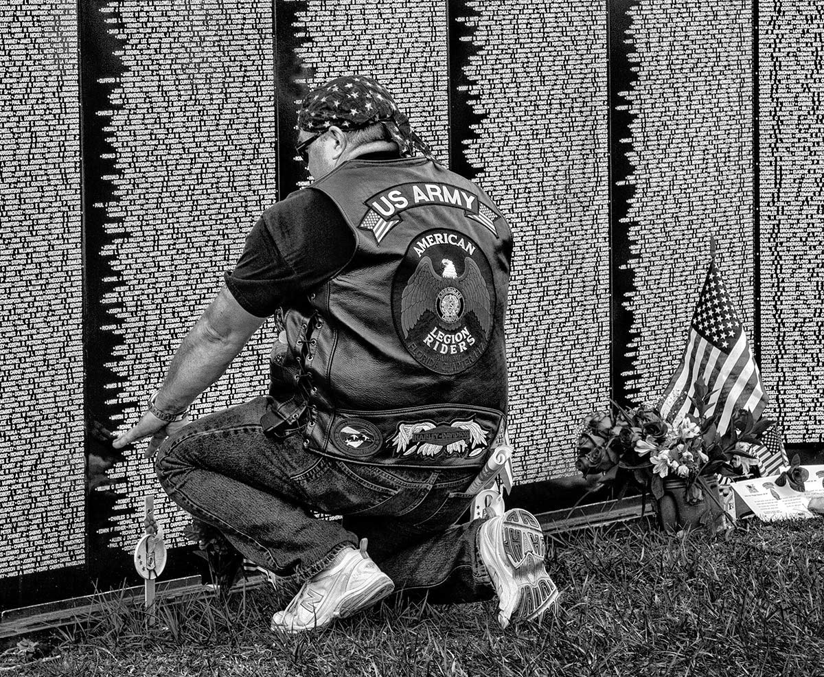 Local Vet Honors The Fallen at Traveling Vietnam Wall Memorial