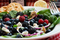 spinach, goat cheese & berry salad
