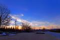 A Winter Sunset After A Light Snow