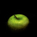 Granny Smith in the Square, in the Dark, in the Rain