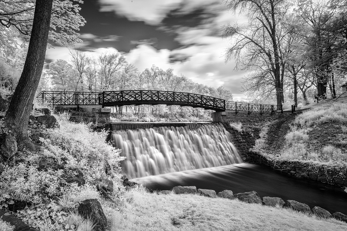 Long Exposure Waterfall in Infrared
