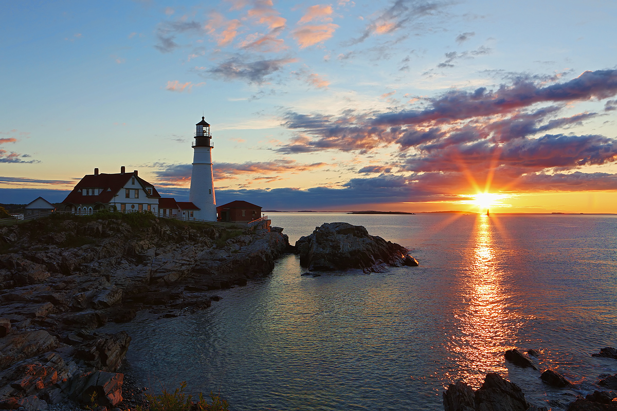 Sunrise over Cape Elizabeth