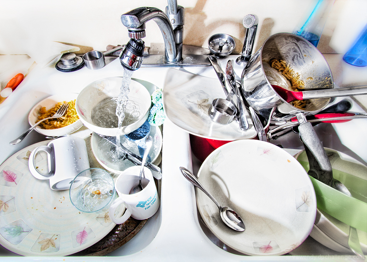 Dirty dishes Left in the Sink