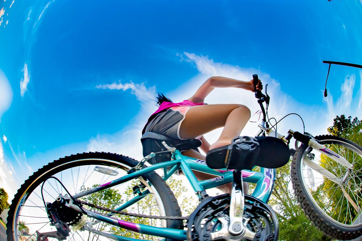 Bike riding is fun
