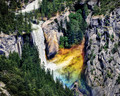 When The Sun's Just Right - Vernal Falls from Glacier Point, Yosemite Nat'l Park