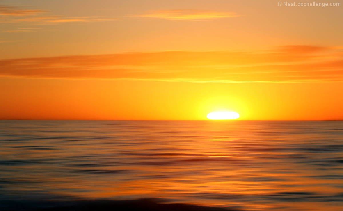 We found water, and the sunsets are amazing!
