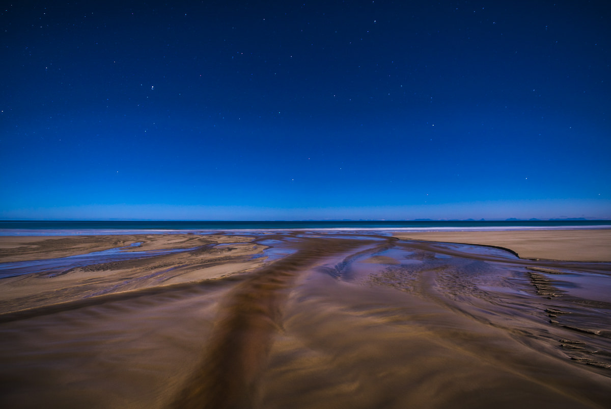 Surreal RIver at night
