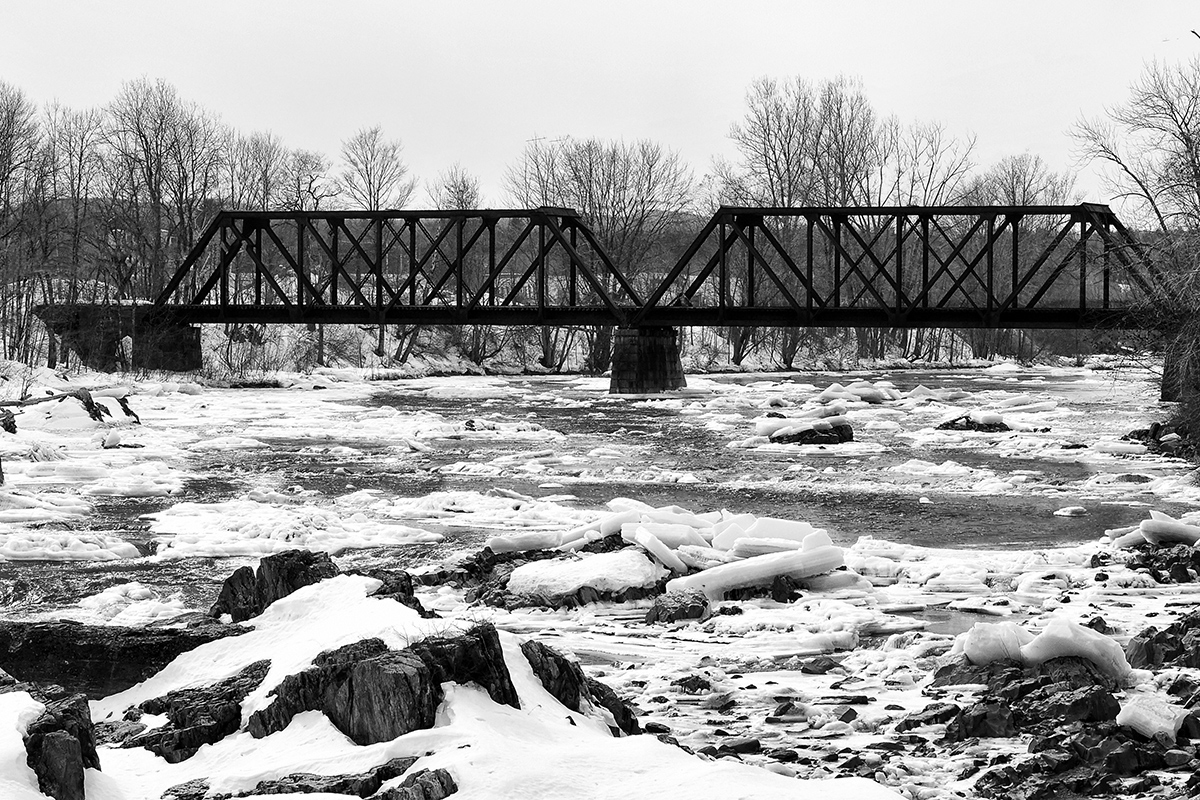 Bridge over frozen waters