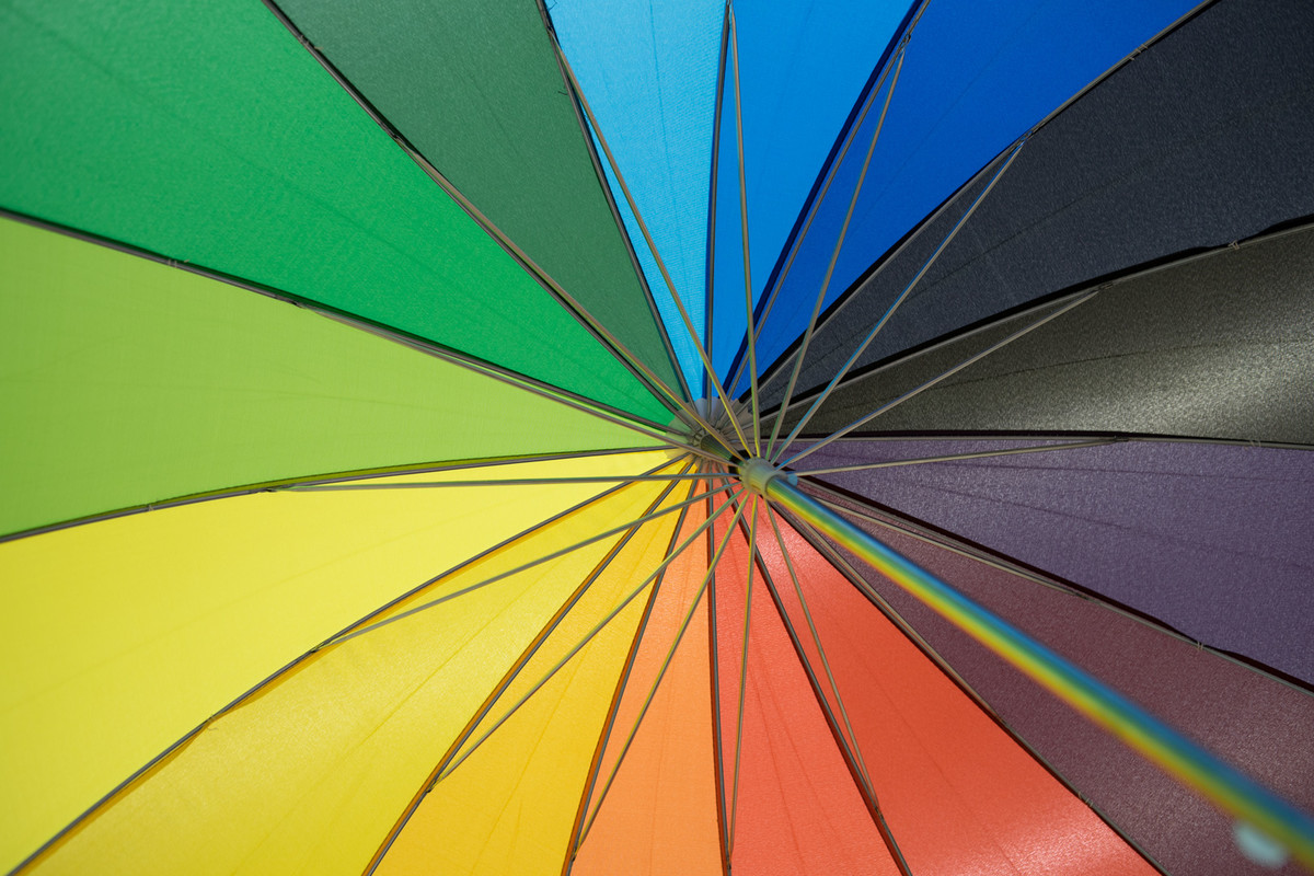 Umbrella of color