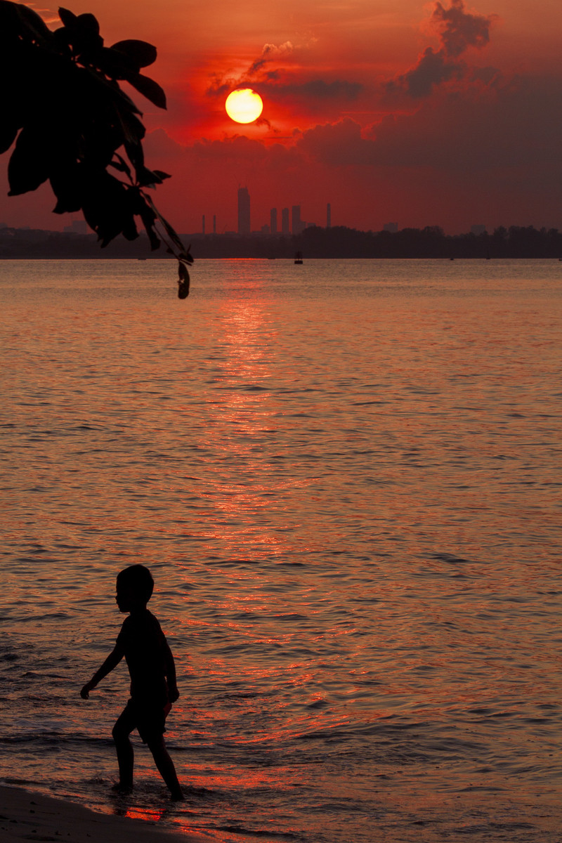 Boy and the Sunset