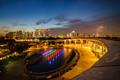 Nightscape at Singapore Marina Barrage