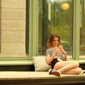 summer day on the veranda