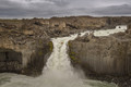 Crazy kayaker at Aldeyjarfoss