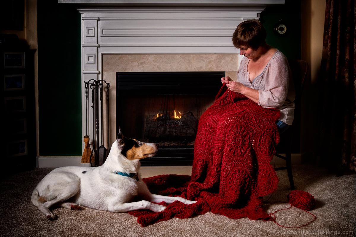 Yarn, Crochet Hooks and Puppies