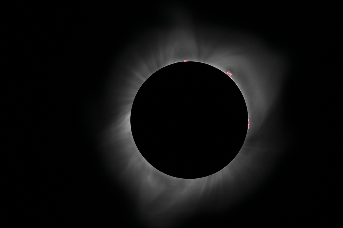Prominences at Totality