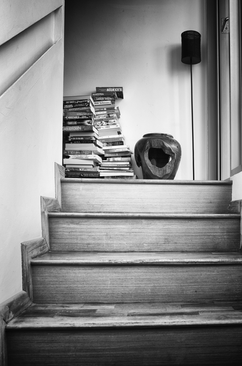 Staircase Bookcase.