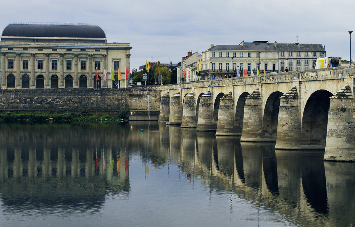Saumur Bridge over the Loire