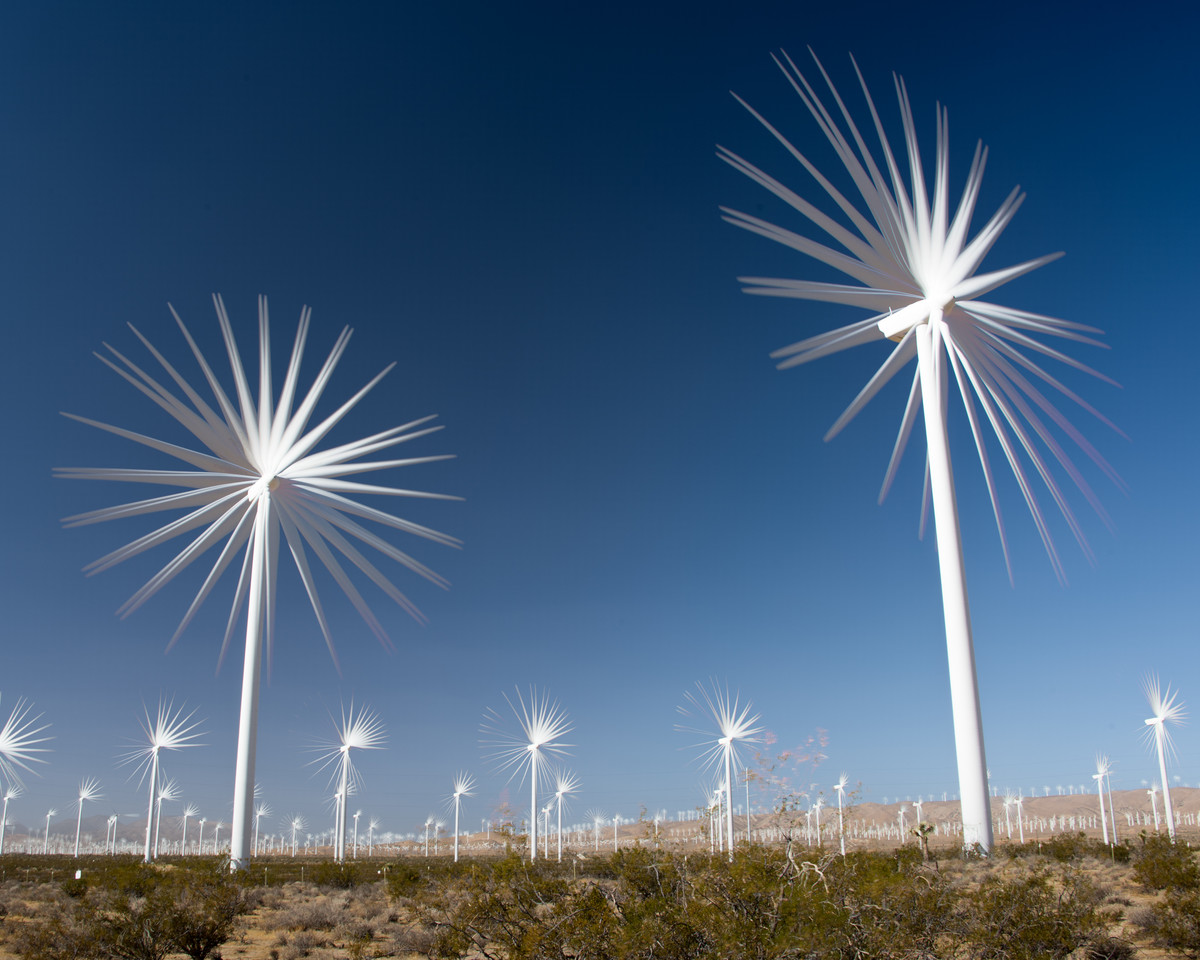 Mojave WInd Turbines Stacked-