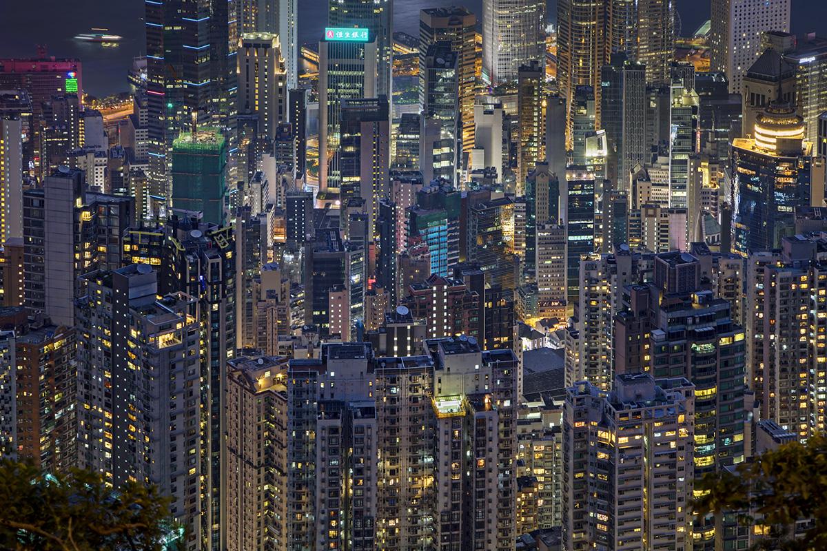 At the top of The PEAK, Hong Kong