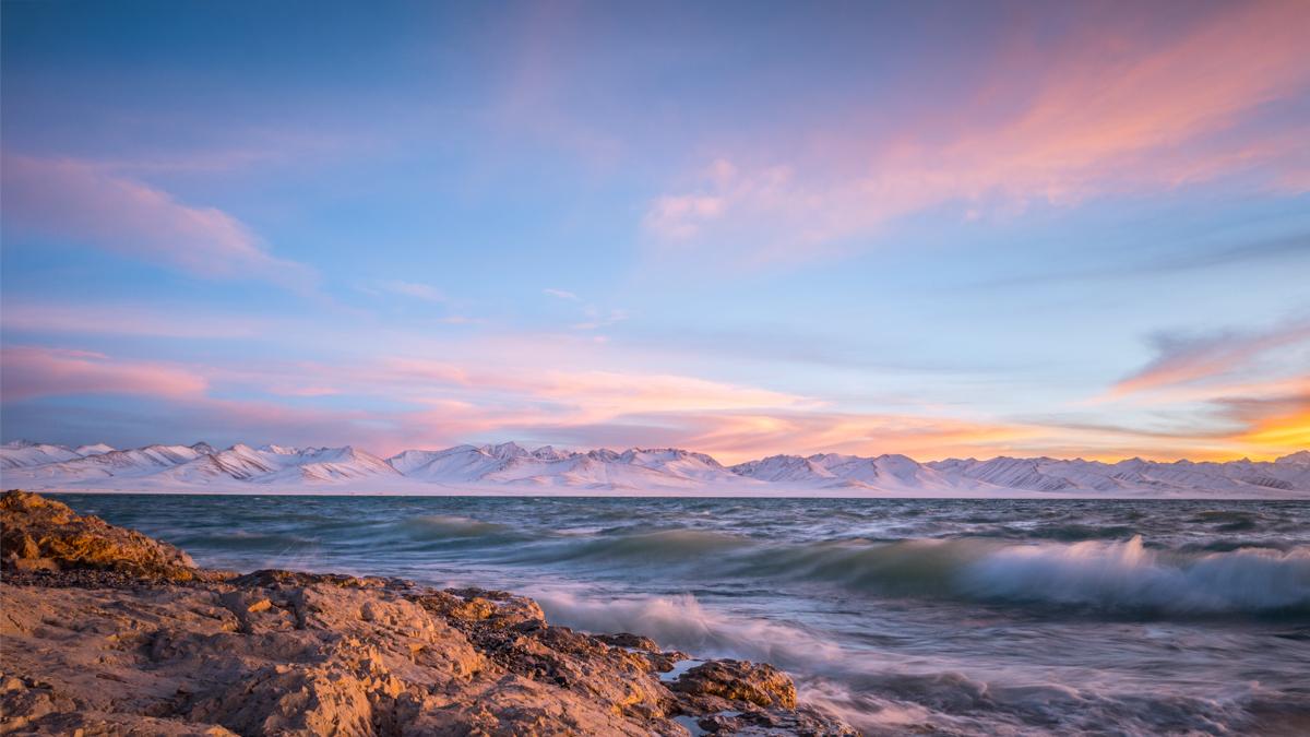 Sunset at Namucuo Lake 4718 m Tibet