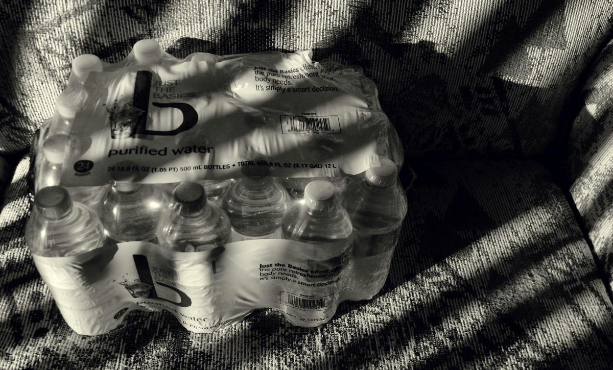 love water in plastic bottles
