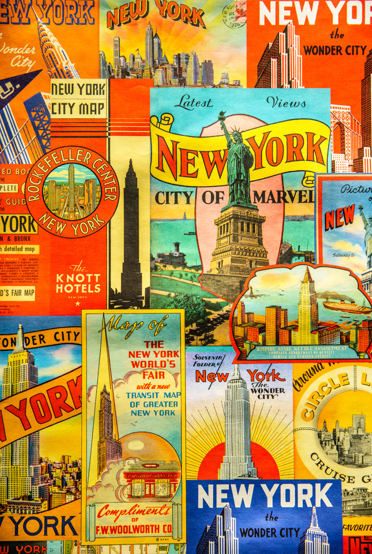 New York Guide in a single sheet of paper