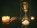 My  hour is almost come, when I to sulphurous and tormeting flames must render up myself - Hamlet