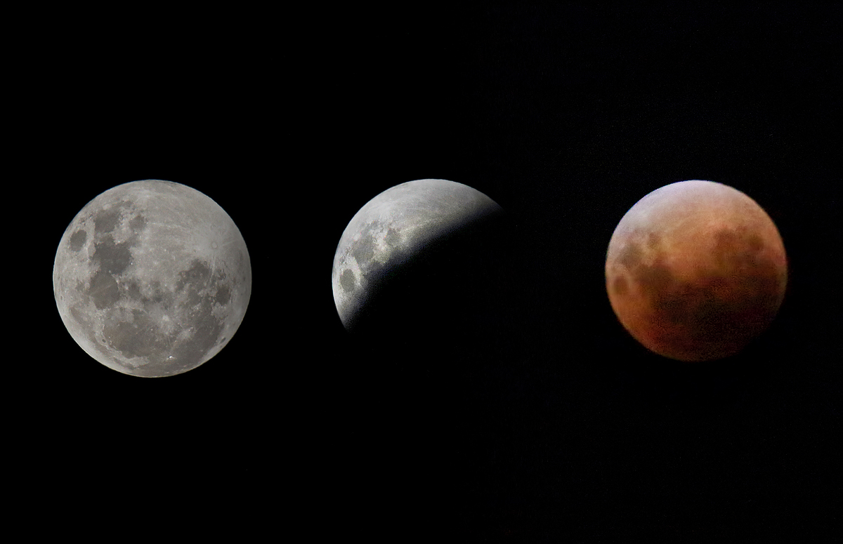 Super Moon, Lunar Eclipse, Blood Moon