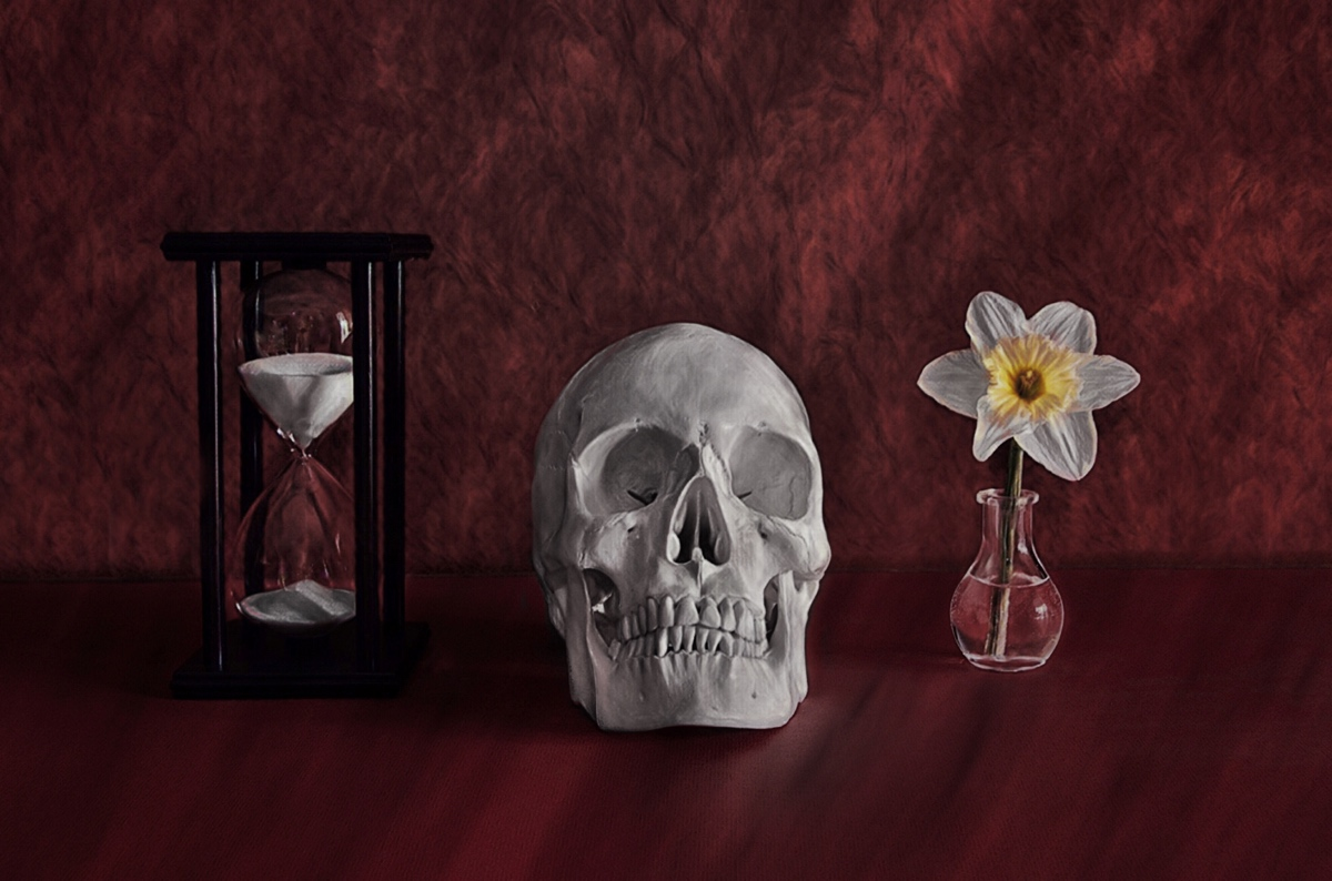 Still Life with Skull (memento mori)