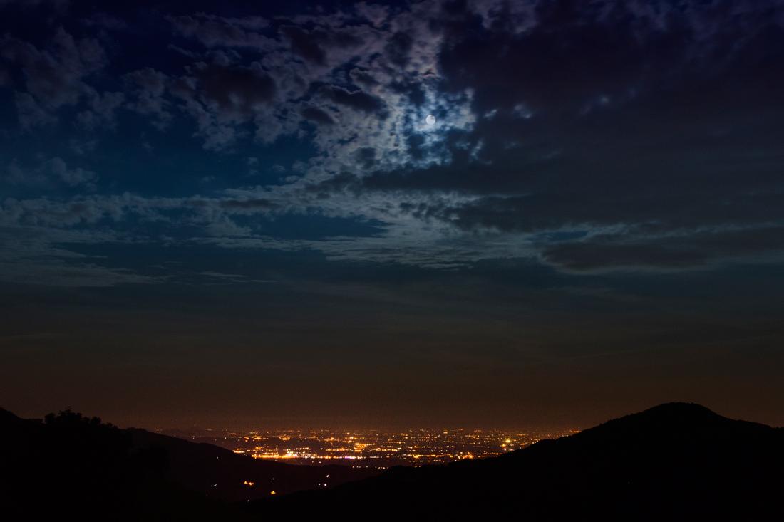 Moonlight vs. city lights