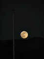 Full Moon and Flagpole