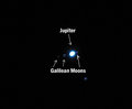 Jupiter and Three Moons