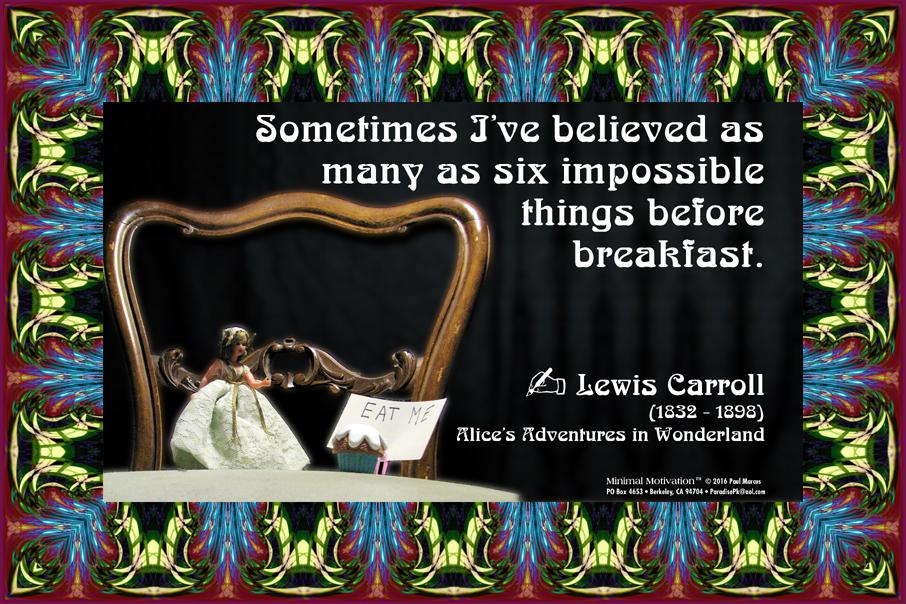 105 Lewis Carroll on Imagination